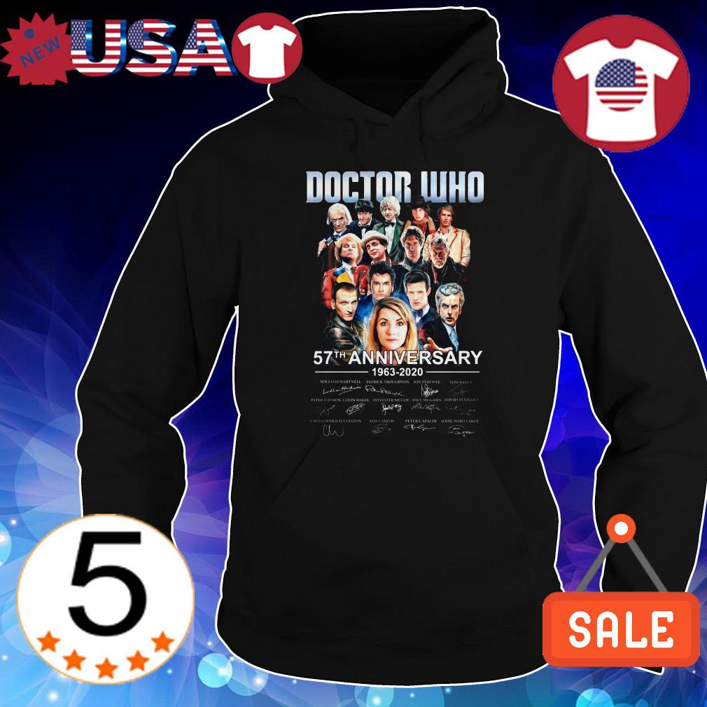 Dotor Who 57th anniversary 1963 2020 characters signatures shirt