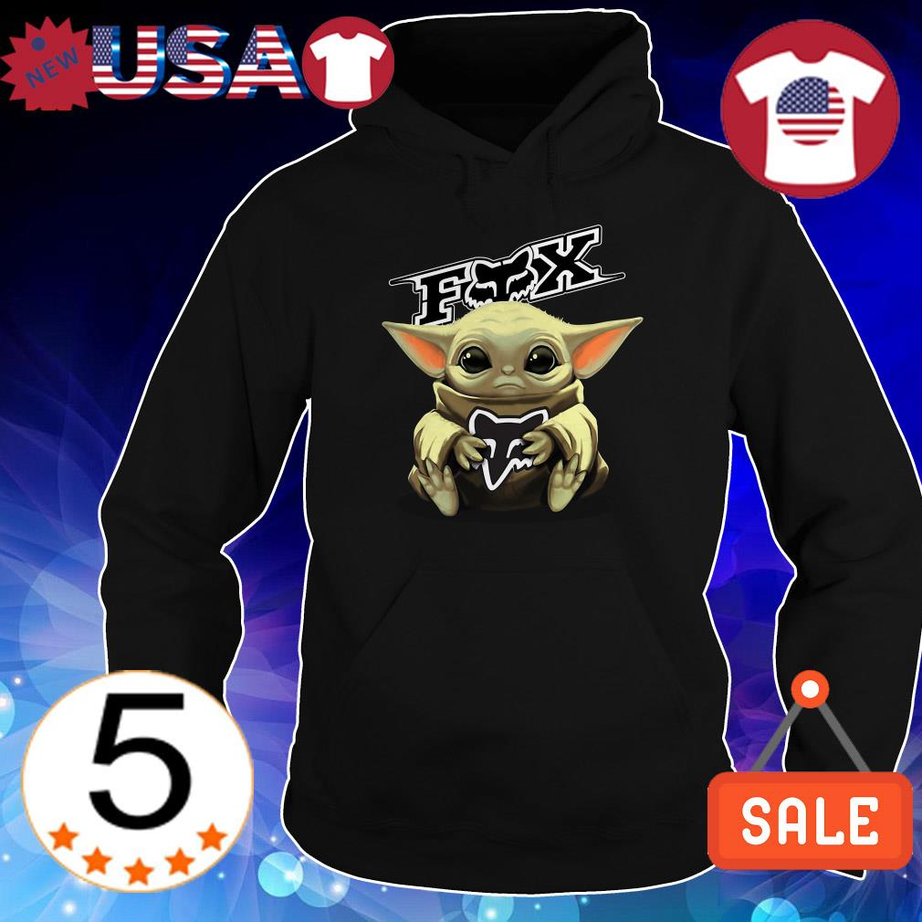 Star Wars Baby Yoda hug Fox Racing shirt