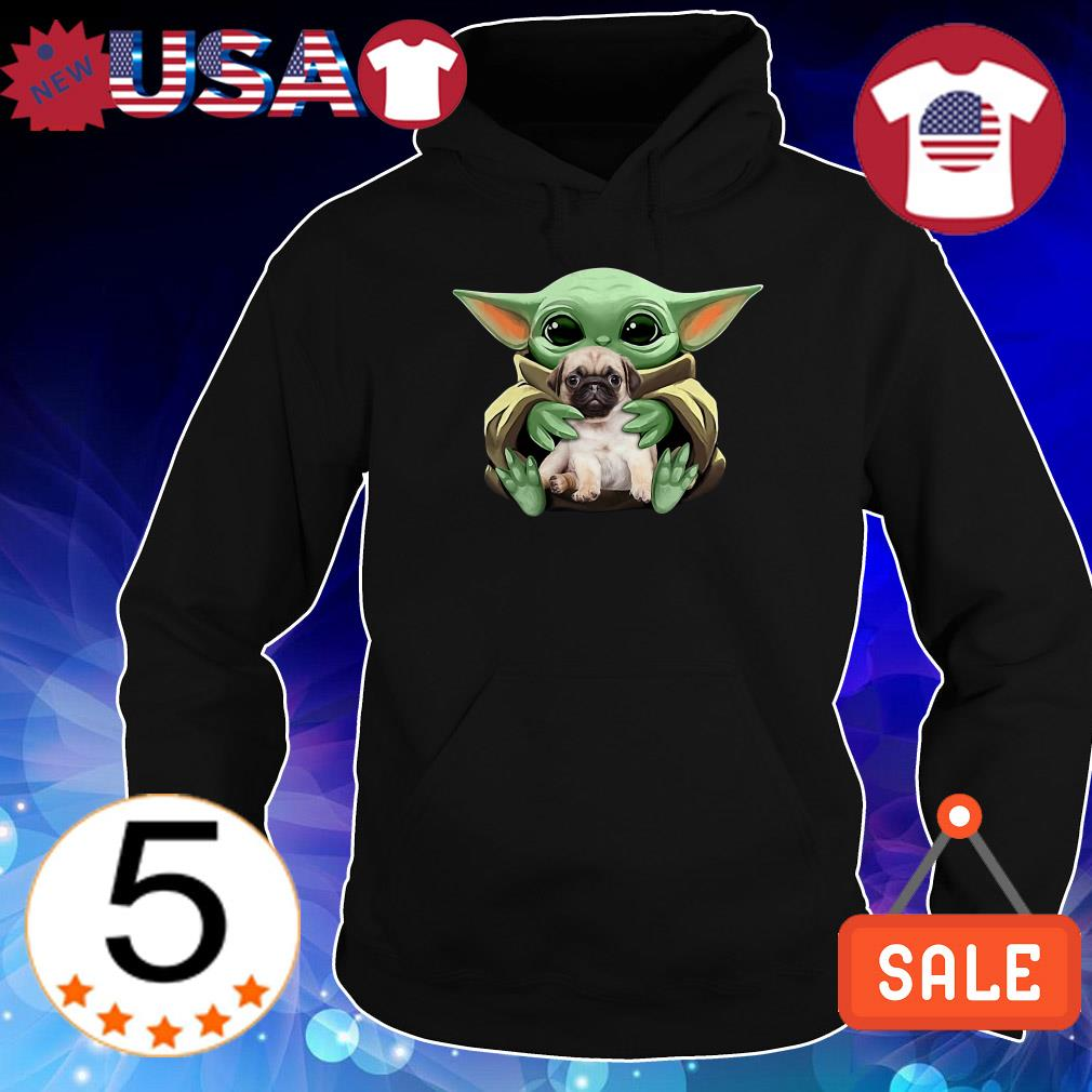 Star Wars Baby Yoda hug Pug shirt