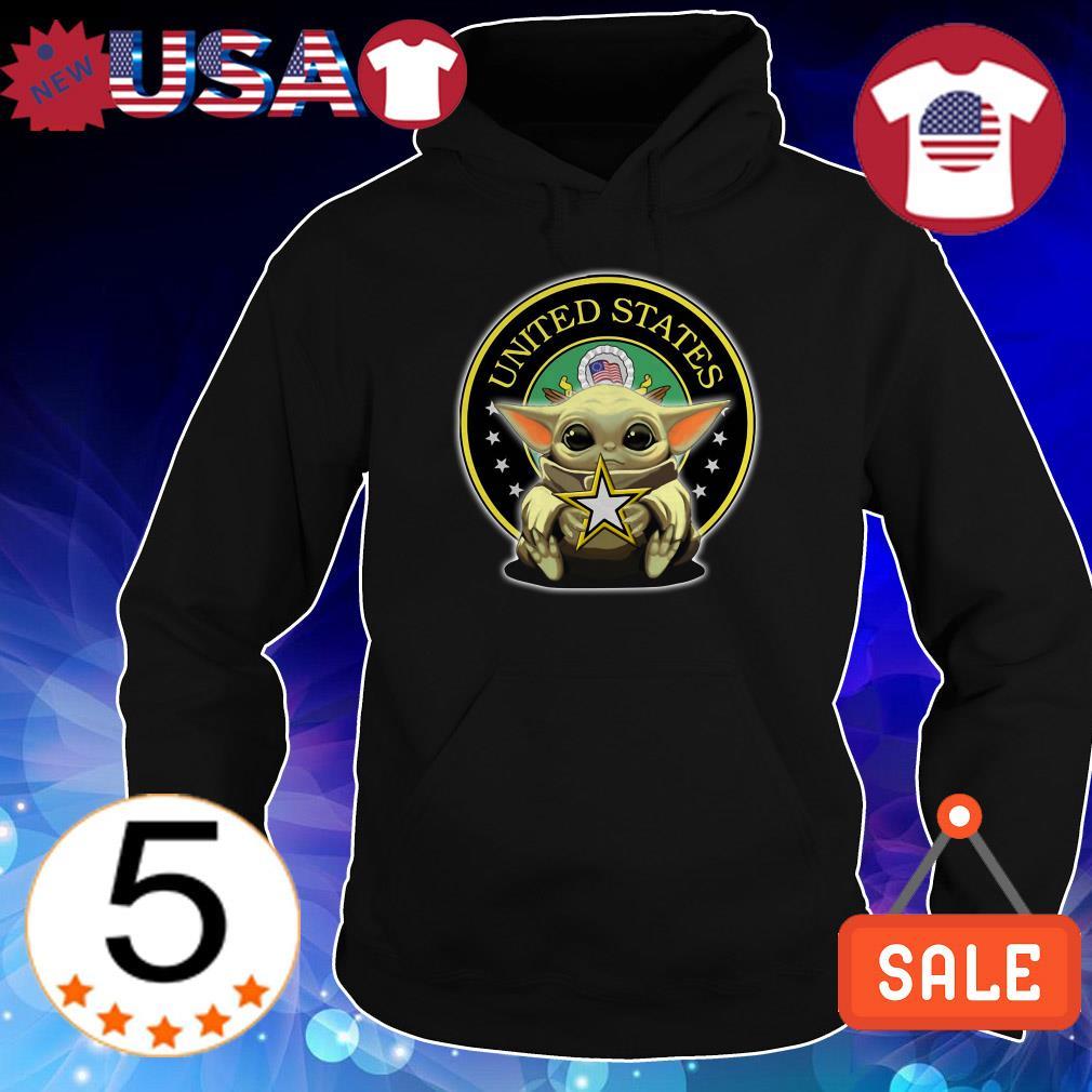 Star Wars Baby Yoda hug Army United States shirt