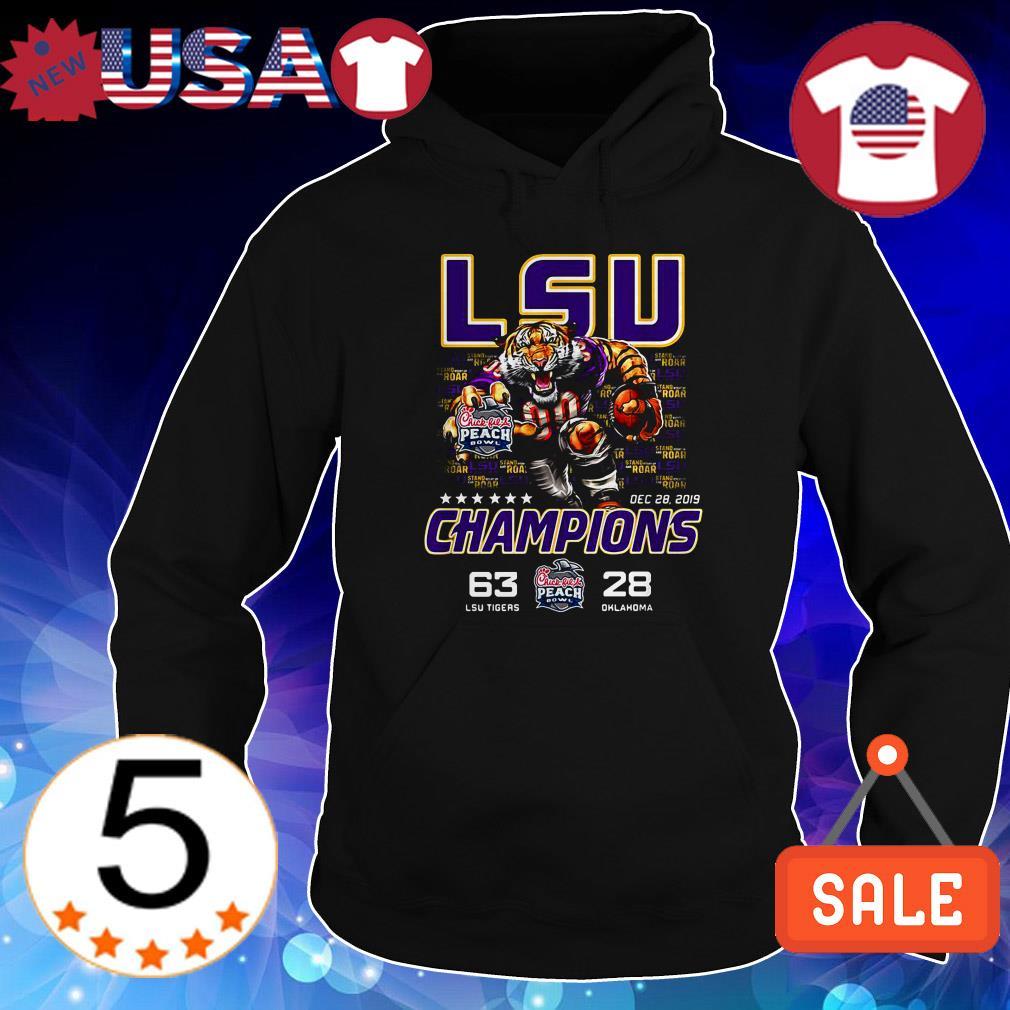 LSU Tigers vs Oklahoma Sooners Peachbowl Champions shirt