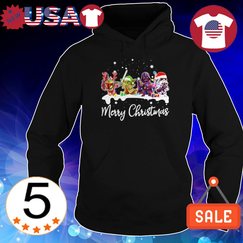 Star Wars chibi characters Merry Christmas sweatshirt