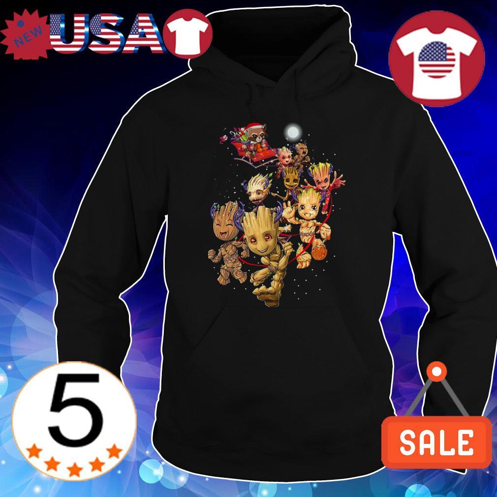 Groot reindeer and Rocket raccoon Santa Christmas sweatshirt