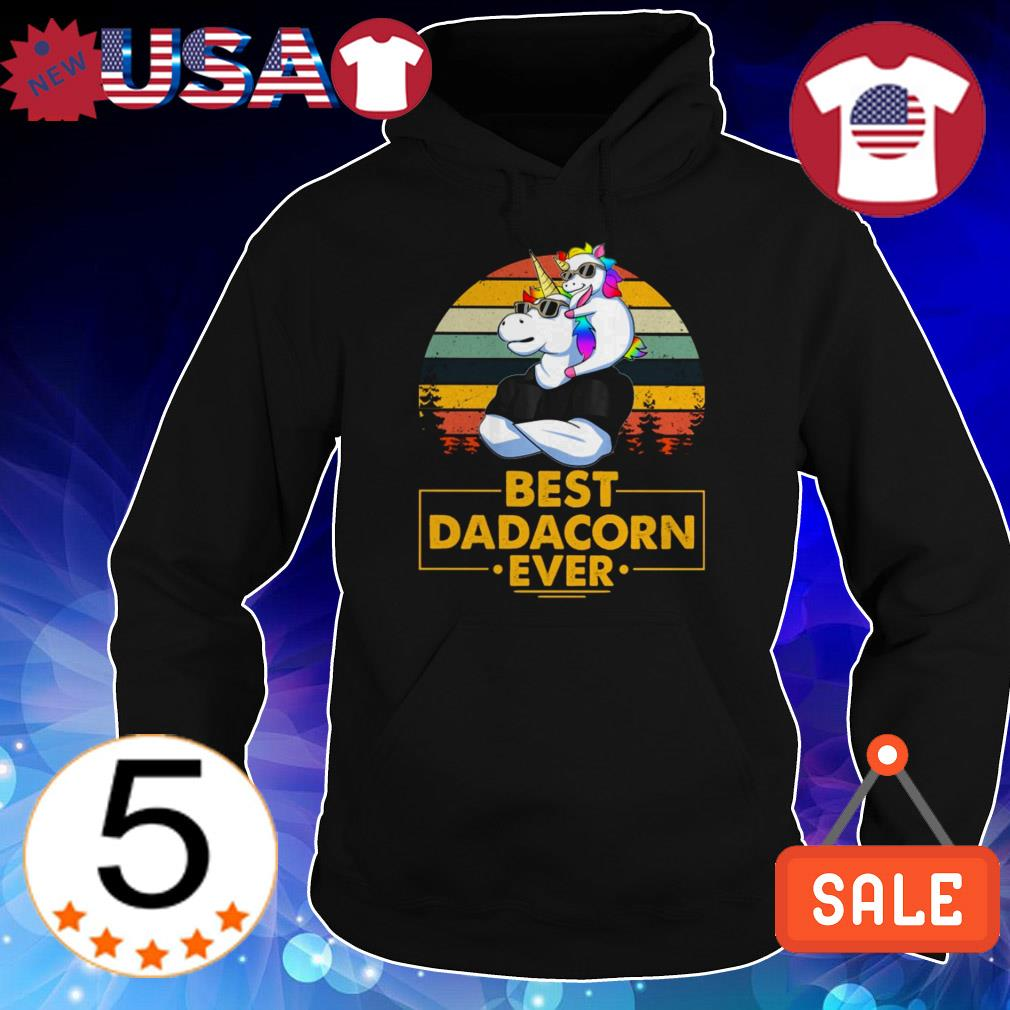 Best Dadacorn ever Unicorn vintage shirt