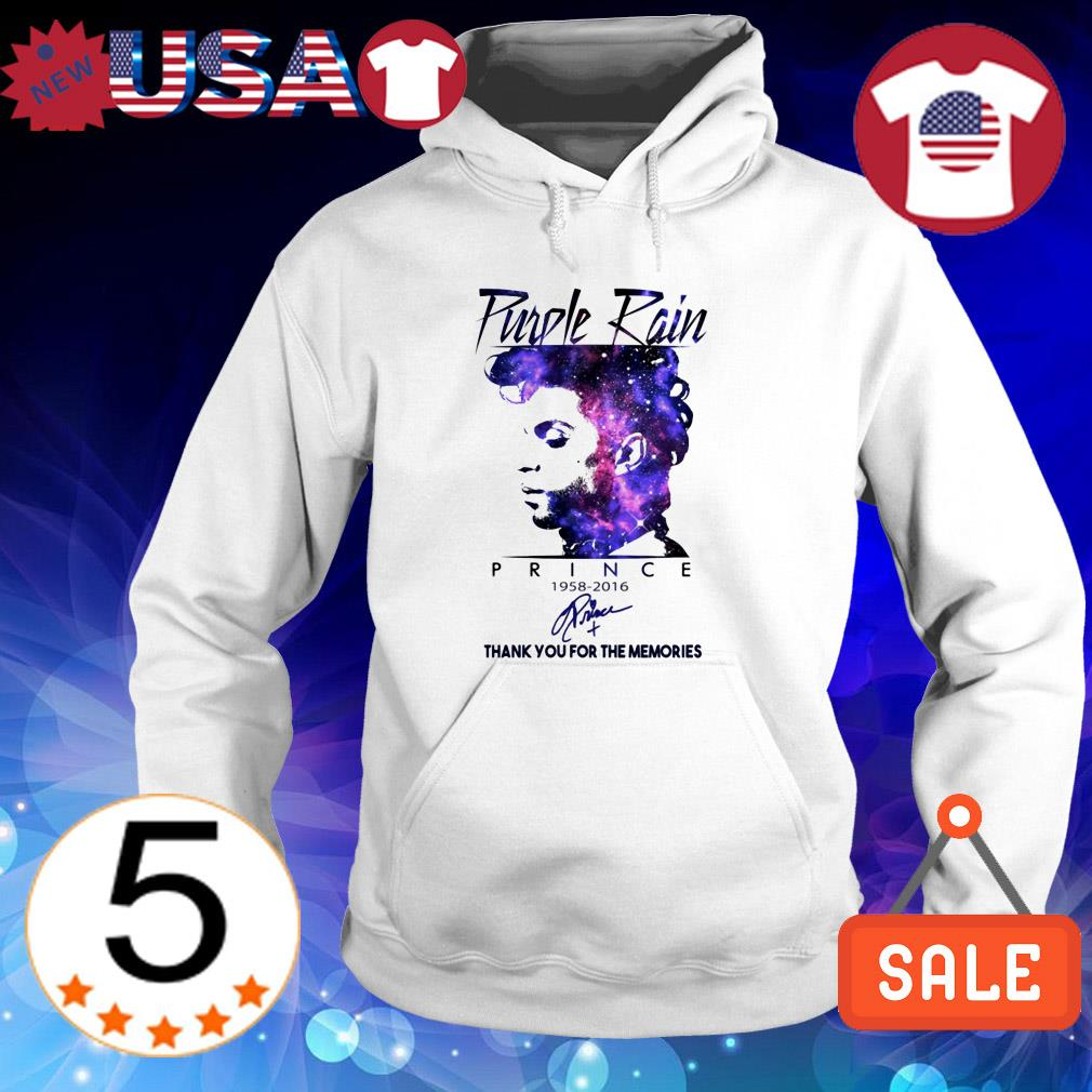 Purple Rain Prince 1958-2016 thank you for the memories signature shirt