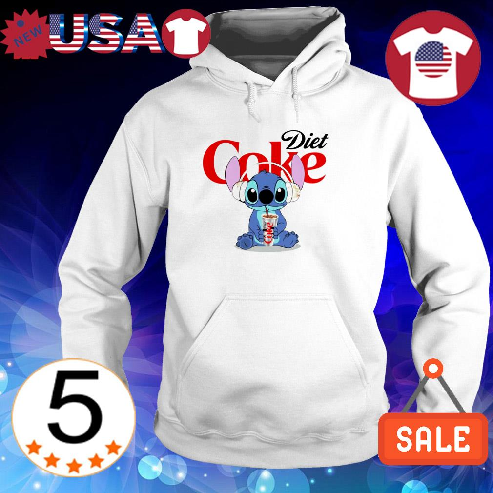 Stitch wearing headphone and drinking Diet Coke shirt