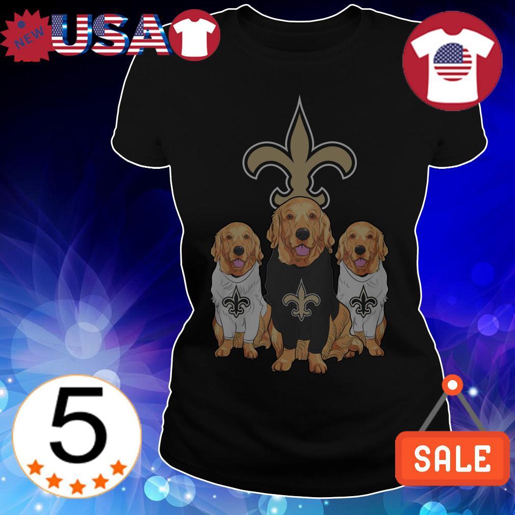 New Orleans Saints Labradoodle shirt