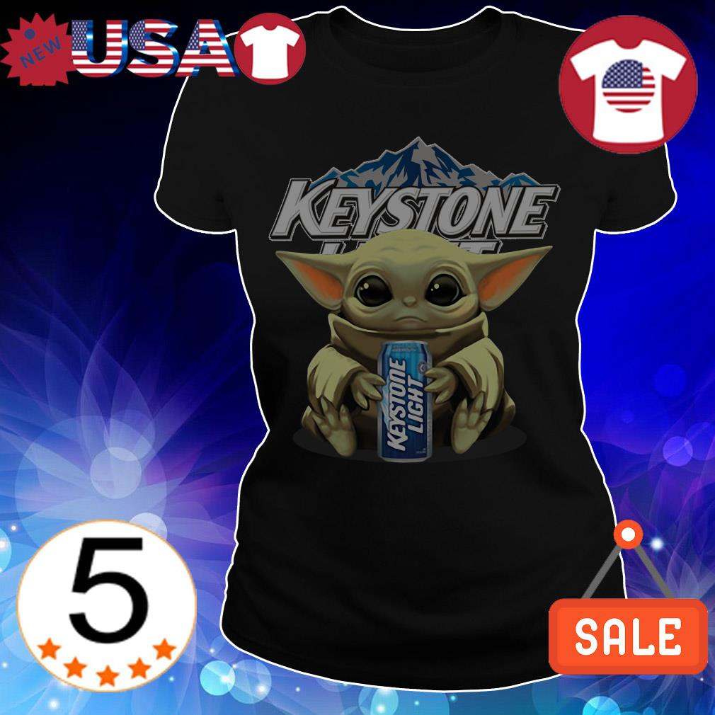 Star Wars Baby Yoda hug Keystone Light Beer shirt