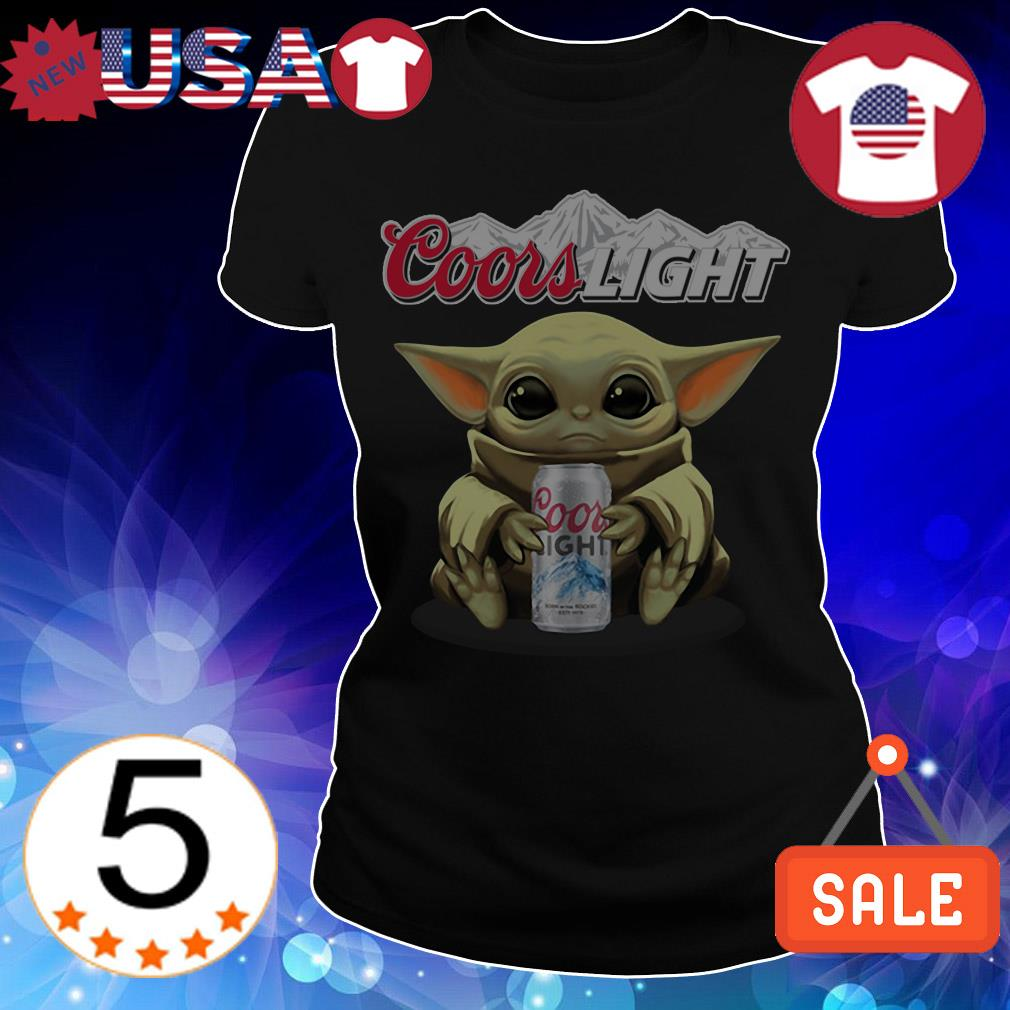 Star Wars Baby Yoda hug Coors Light Beer shirt