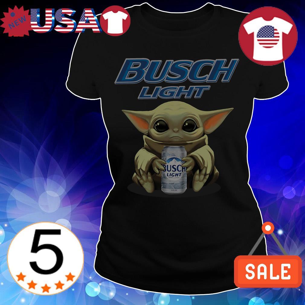 Star Wars Baby Yoda hug Busch Light Beer shirt