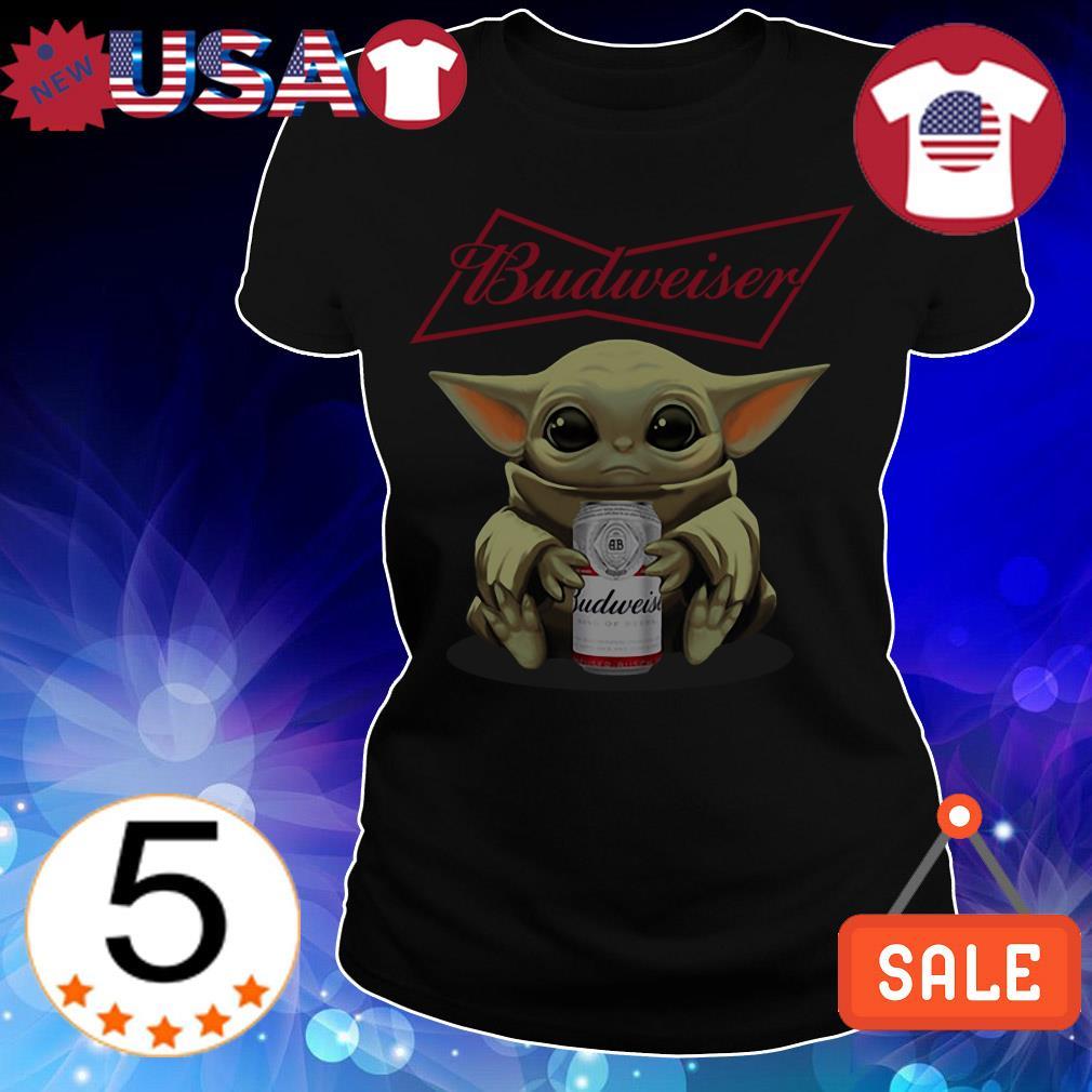 Star Wars Baby Yoda hug Budweiser Beer shirt