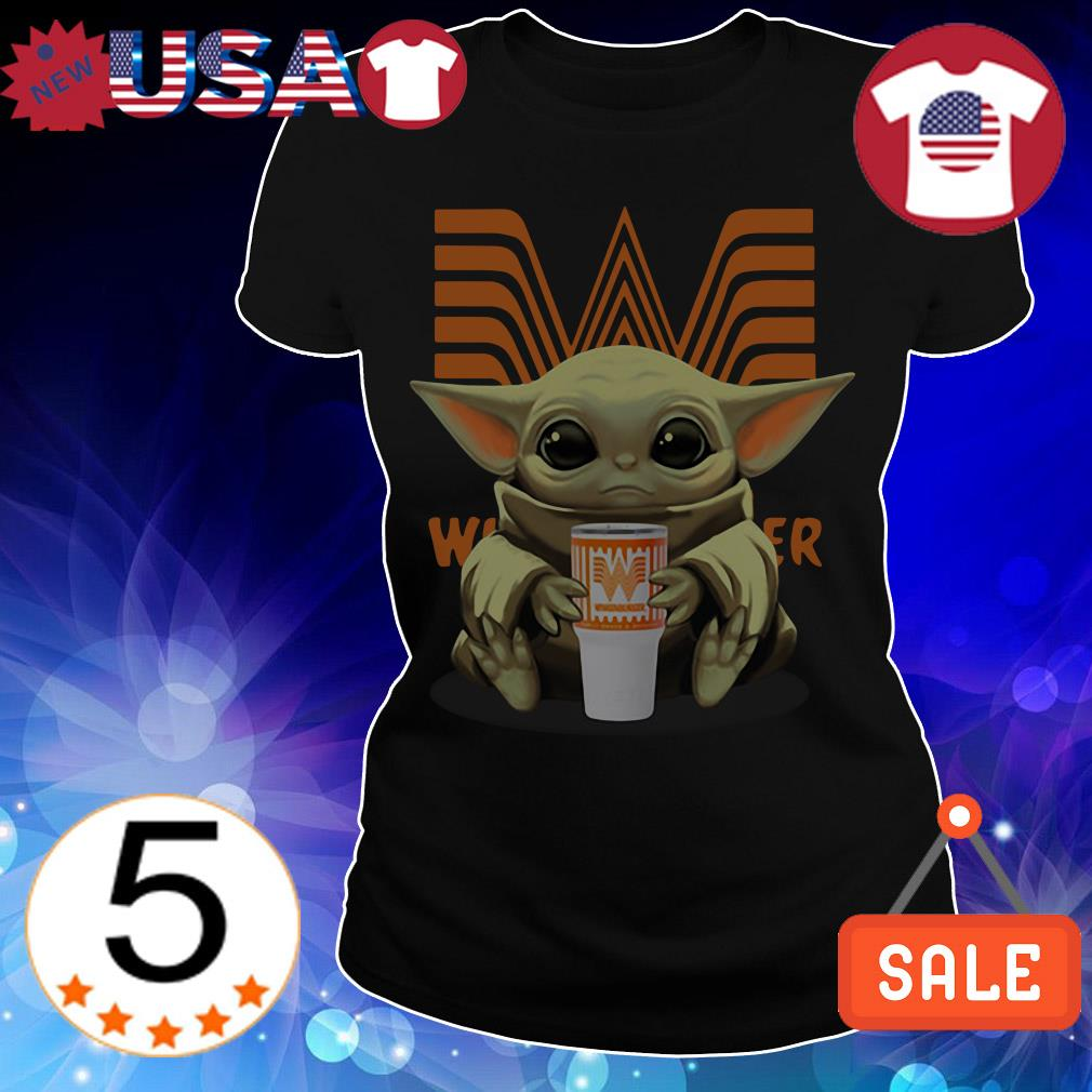 Star Wars Baby Yoda hug Whataburger Christmas sweatshirt