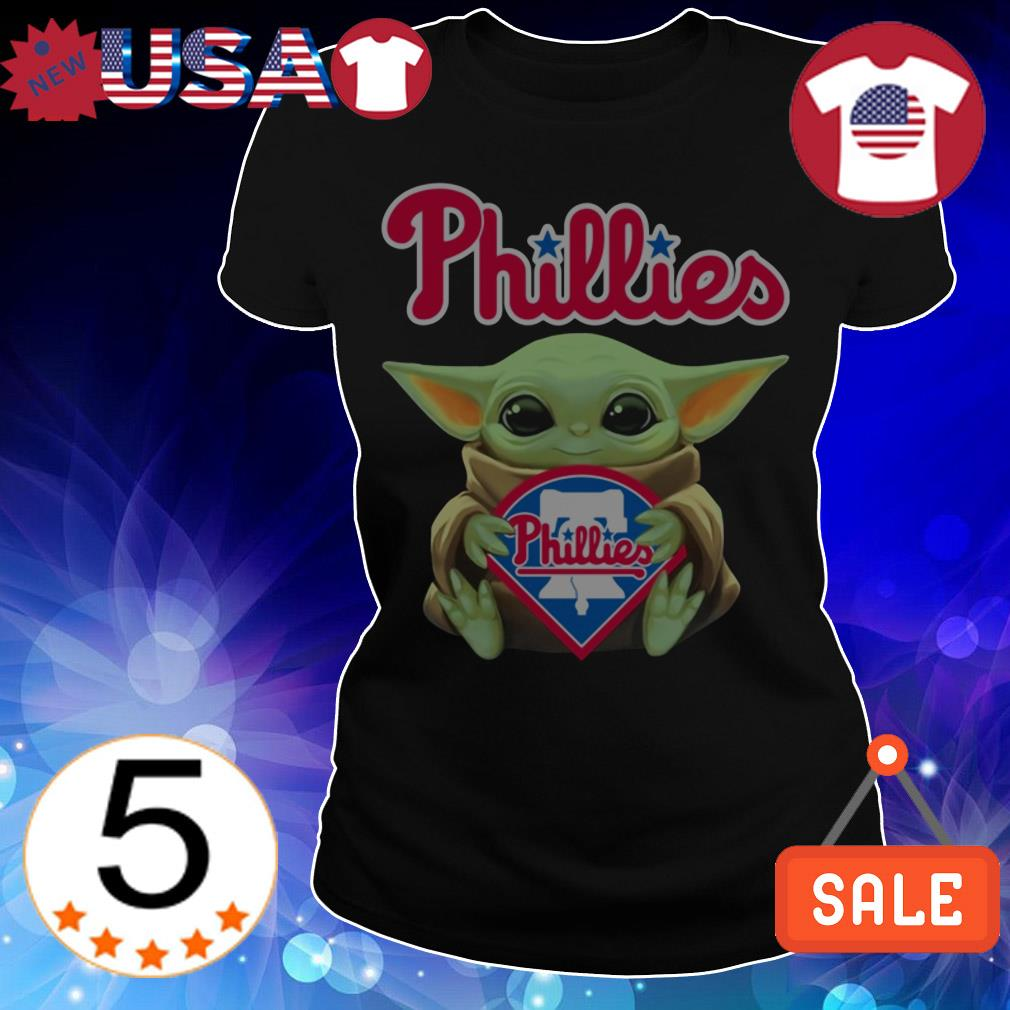 Star Wars Baby Yoda hug Philadelphia Phillies
