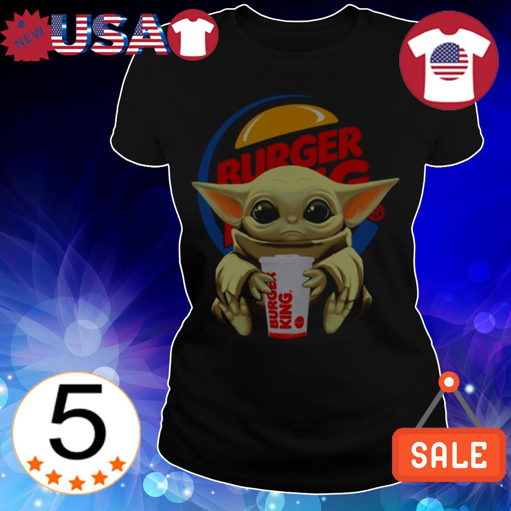 Star Wars Baby Yoda hug Burger King shirt