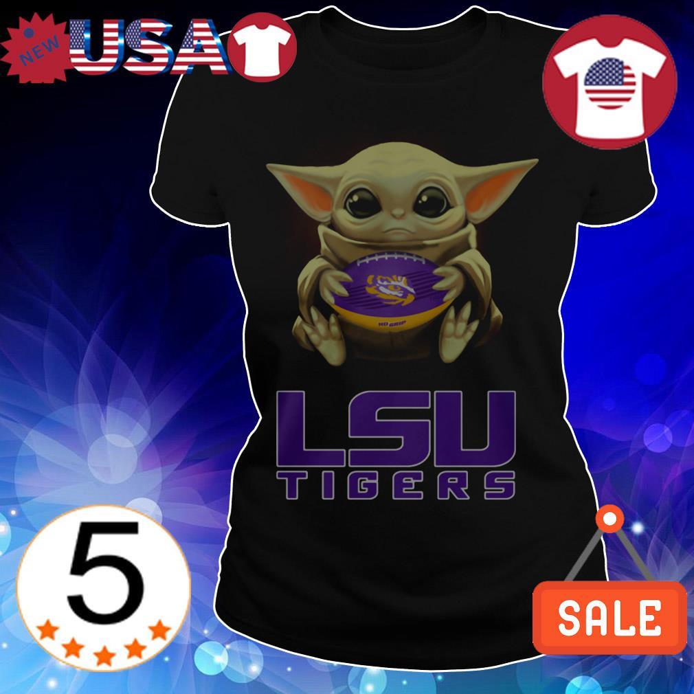 Star Wars Baby Yoda hug LSU Tigers shirt