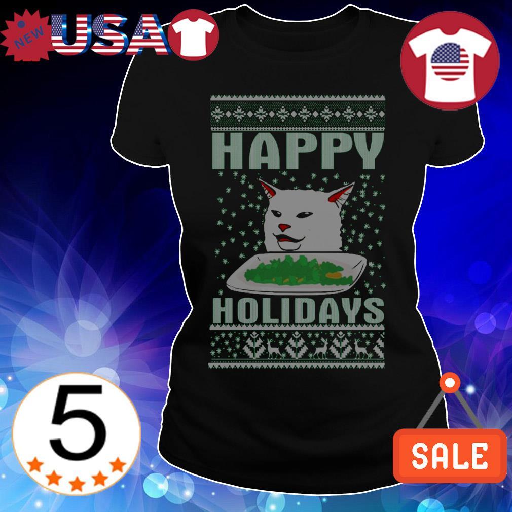 Cat happy Holidays shirt