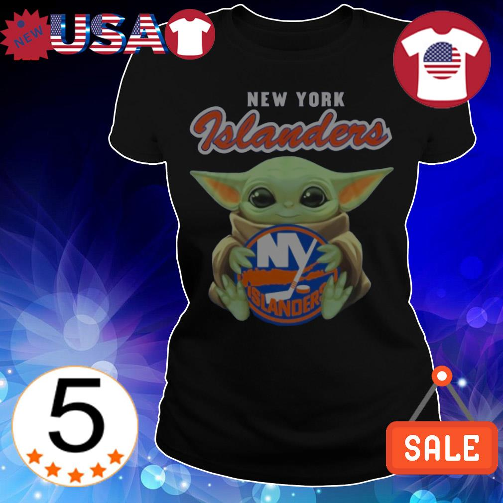 Star Wars Baby Yoda hug New York Islanders shirt