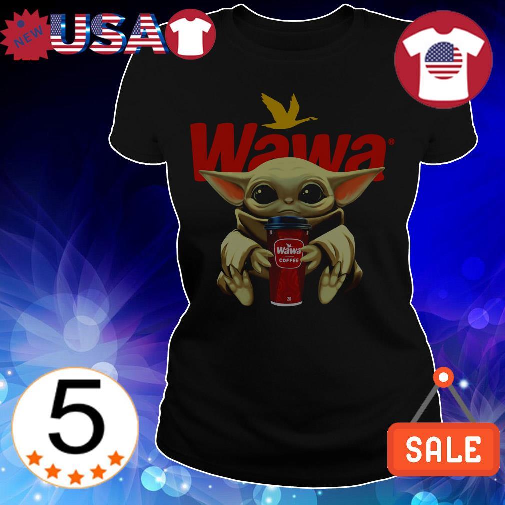 Star Wars Baby Yoda hug Wawa Coffee shirt