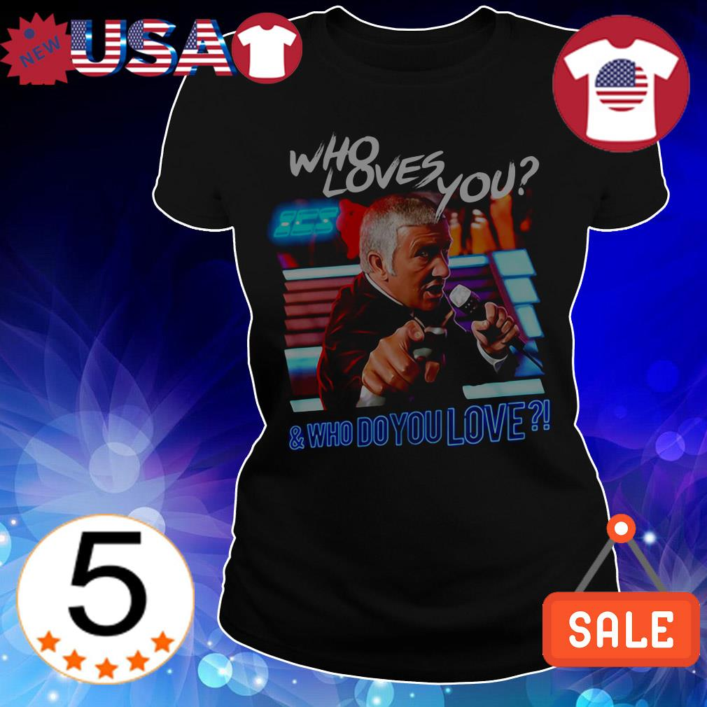 The Running Man who loves you and who do you love shirt