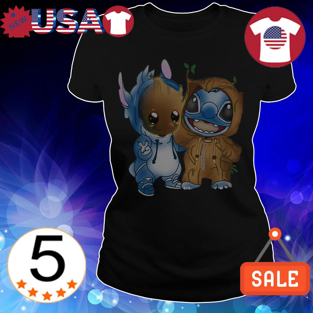 Official Baby Groot and Stitch shirt