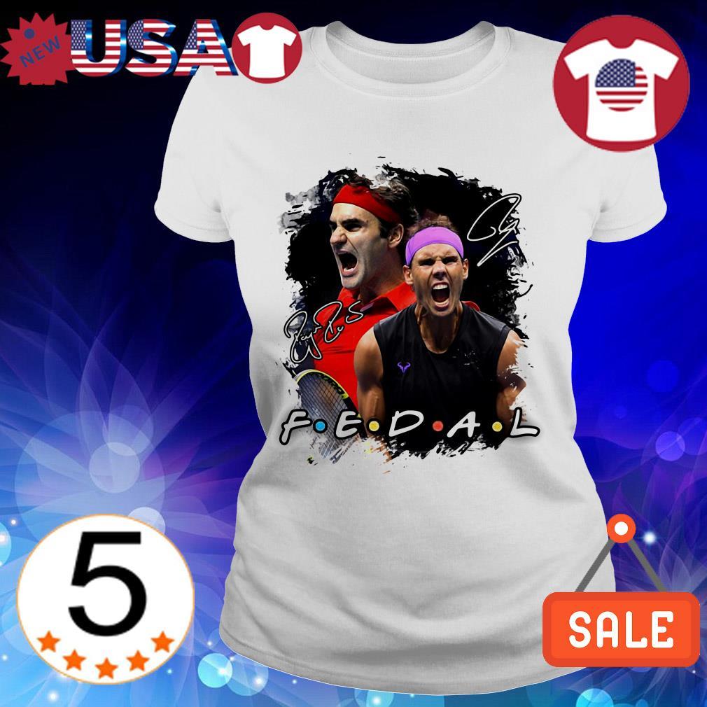Federer vs Nadal Friends TV Show tennis signatures shirt