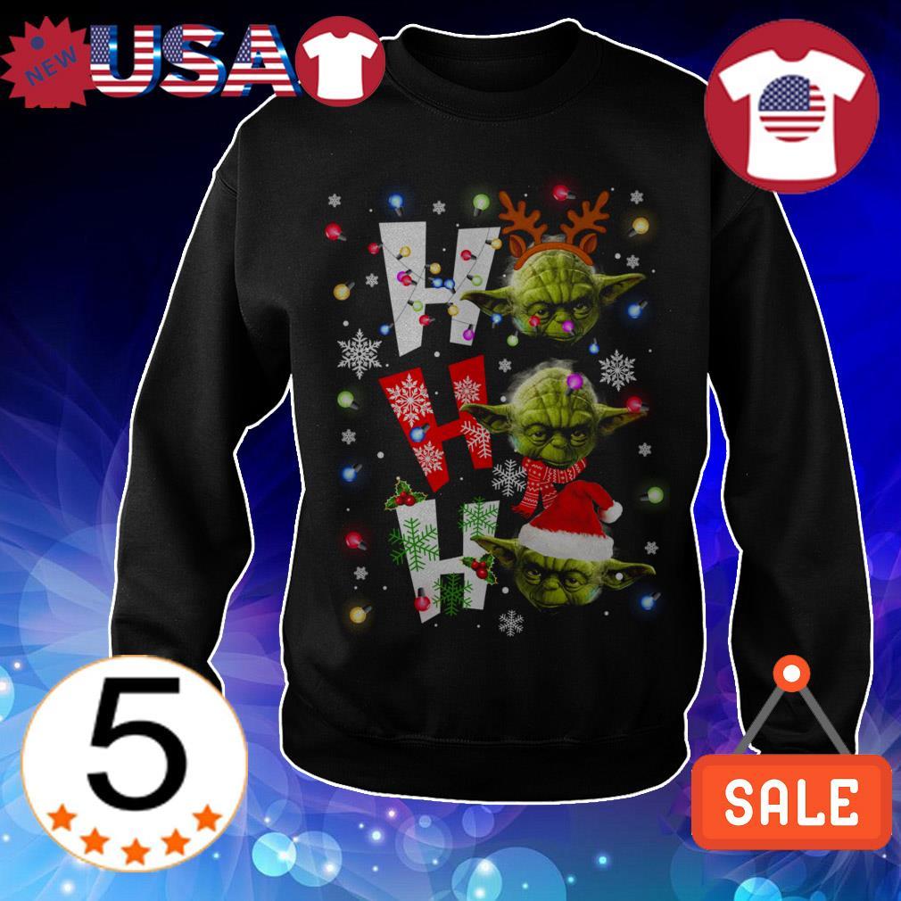 Star Wars Yoda Ho Ho Ho Christmas sweater
