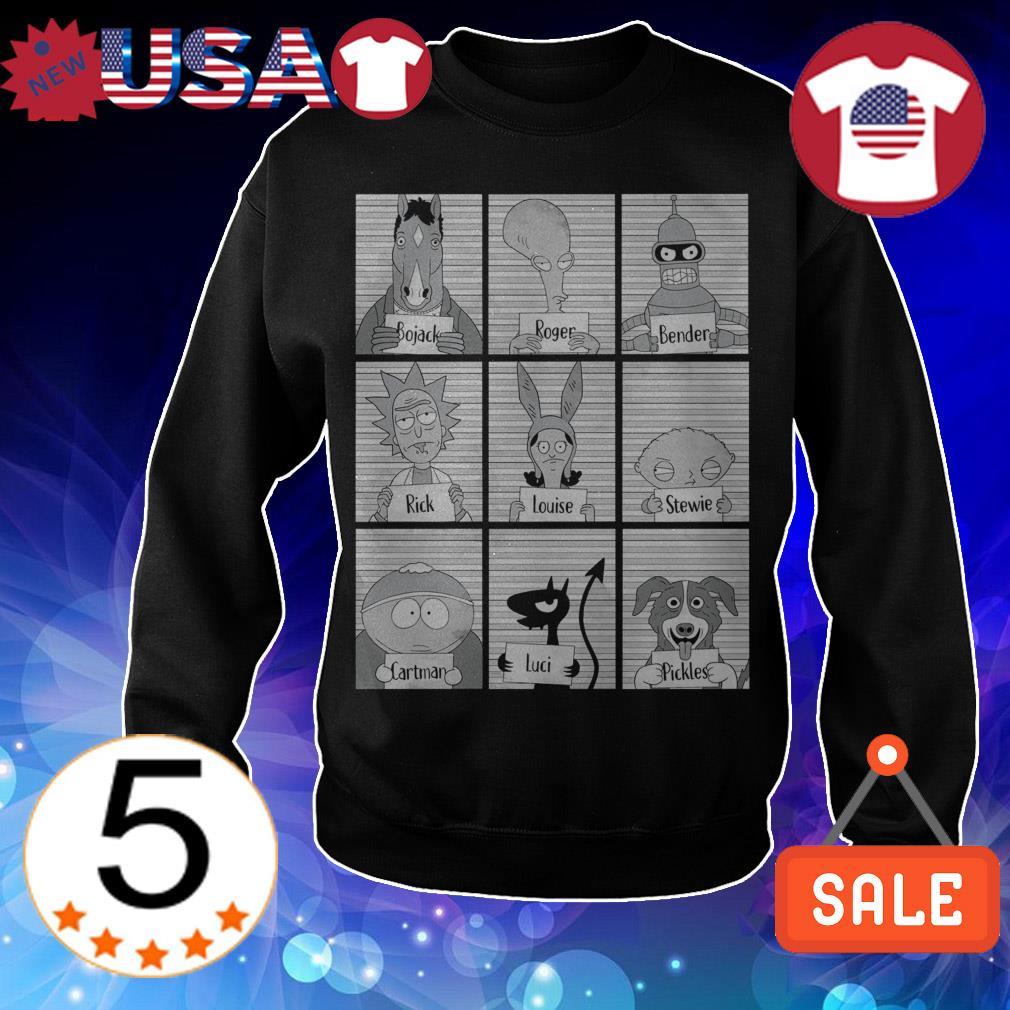 Bojack Roger Bender Rick Louise Stewie Cartman Luci Pickles shirt