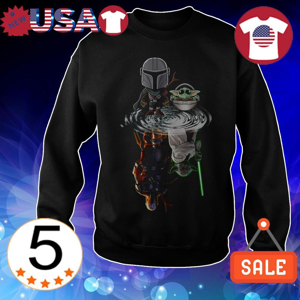 The Mandalorian and Yoda water reflection mirror shirt