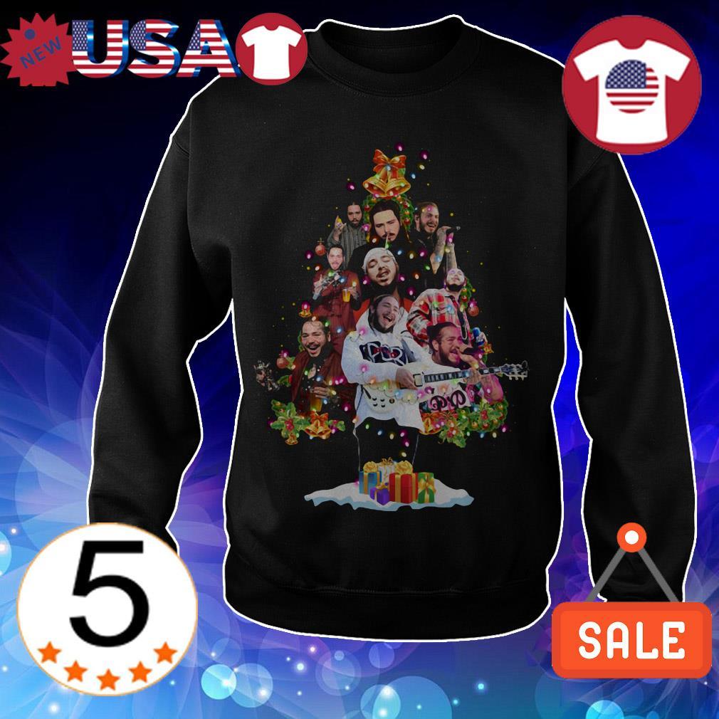 Post Malone Christmas tree sweatshirt