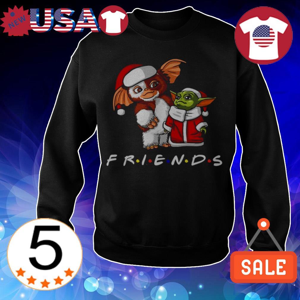 Baby Jeti and Baby Yoda Friends TV Show Christmas sweatshirt