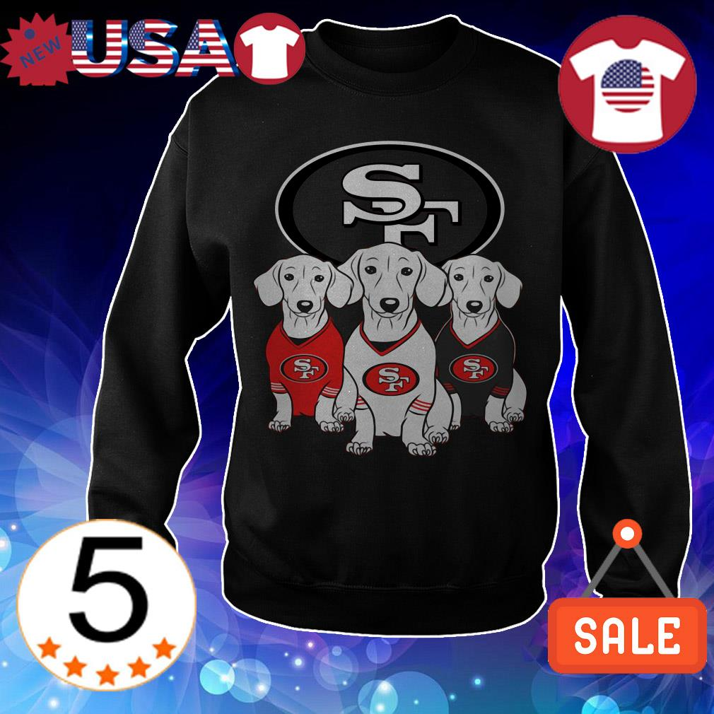 San Francisco 49ers dachshund shirt
