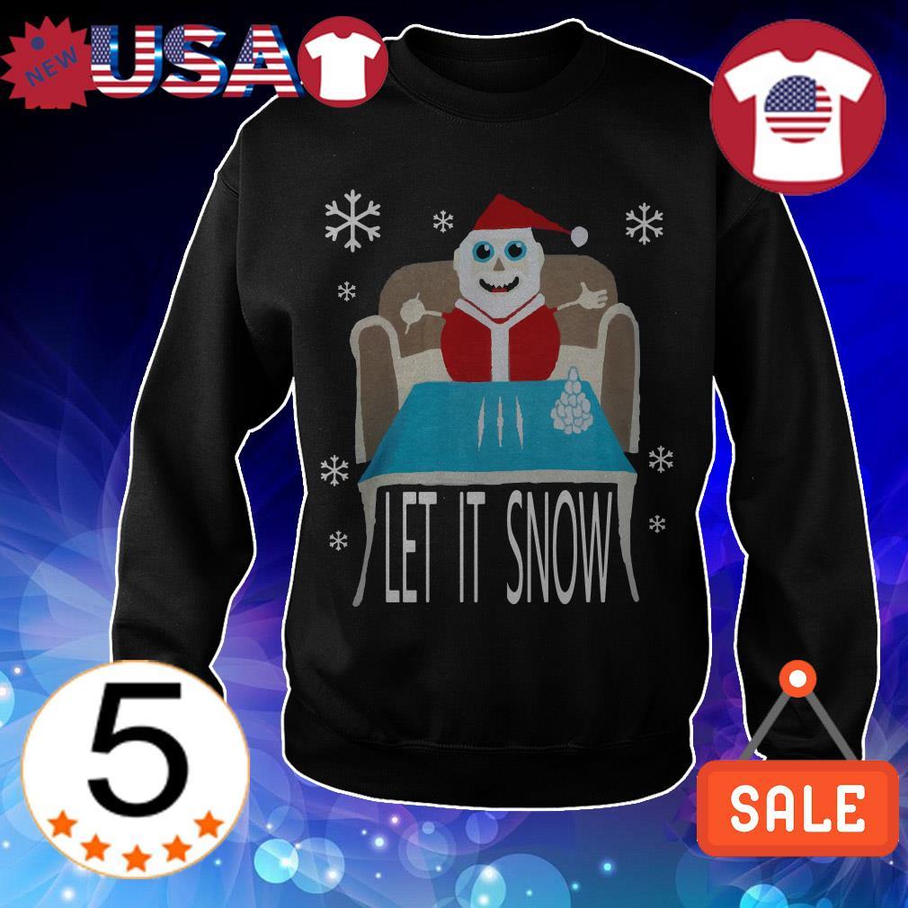 Let it snow Cocaine Santa Christmas sweatshirt