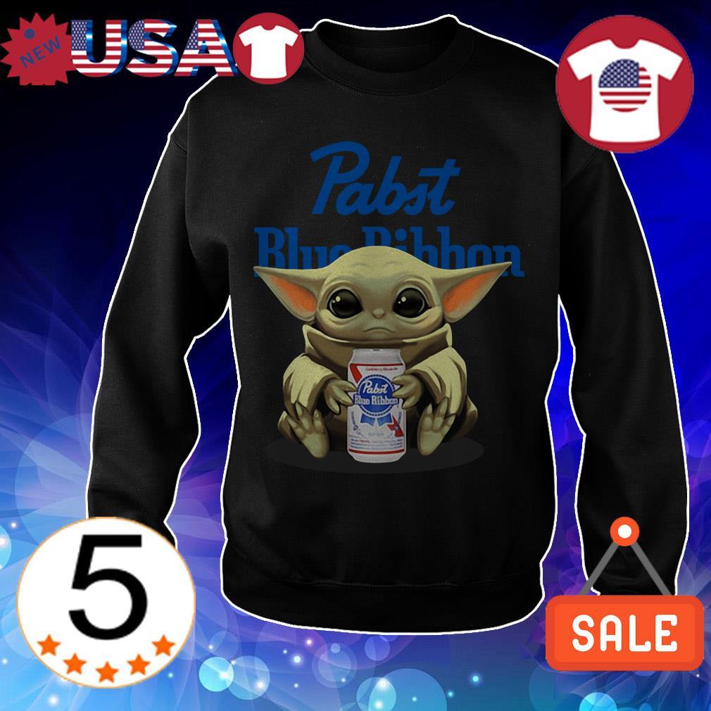 Star Wars Baby Yoda hug Pabst Blue Ribbon Beer shirt