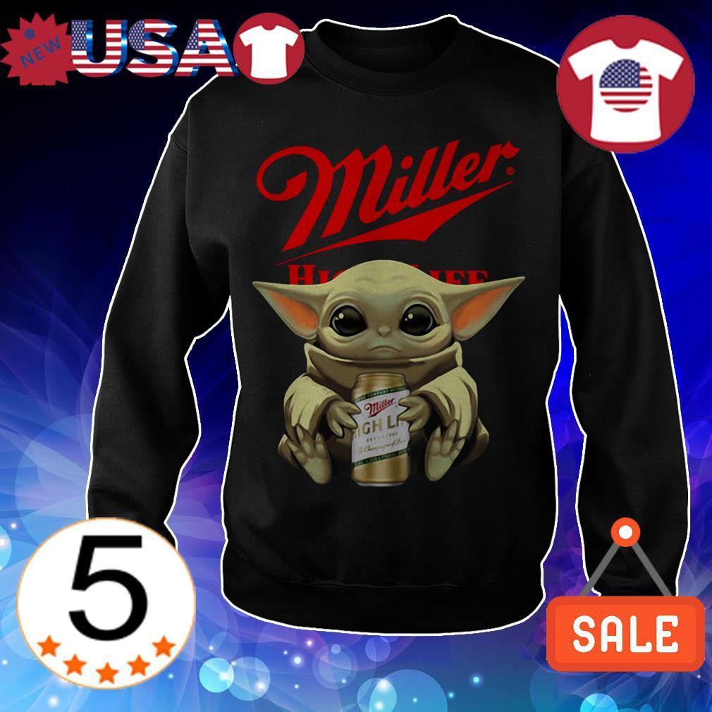 Star Wars Baby Yoda hug Miller High Life Beer shirt