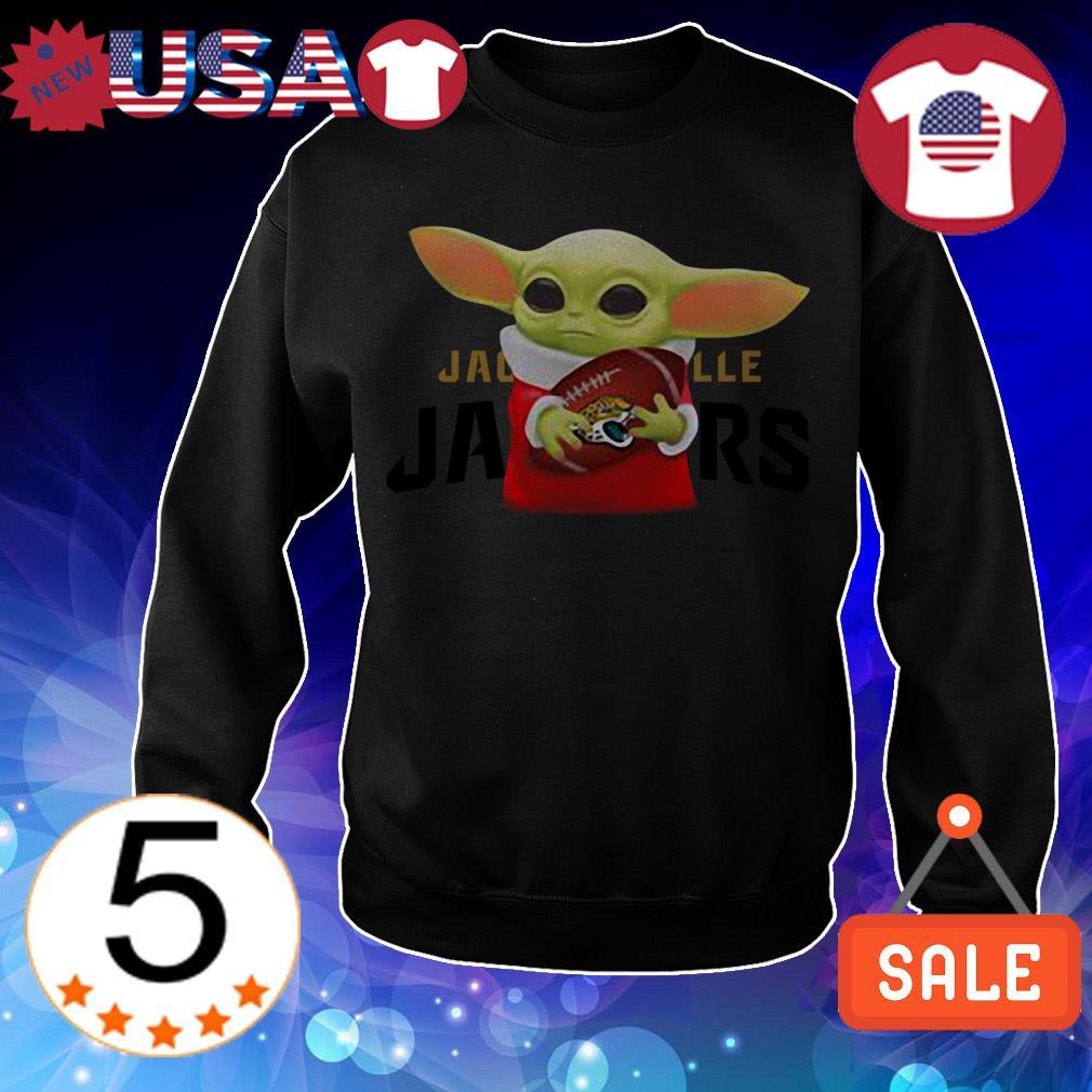 Star Wars Baby Yoda hug Jacksonville Jaguars Christmas sweatshirt