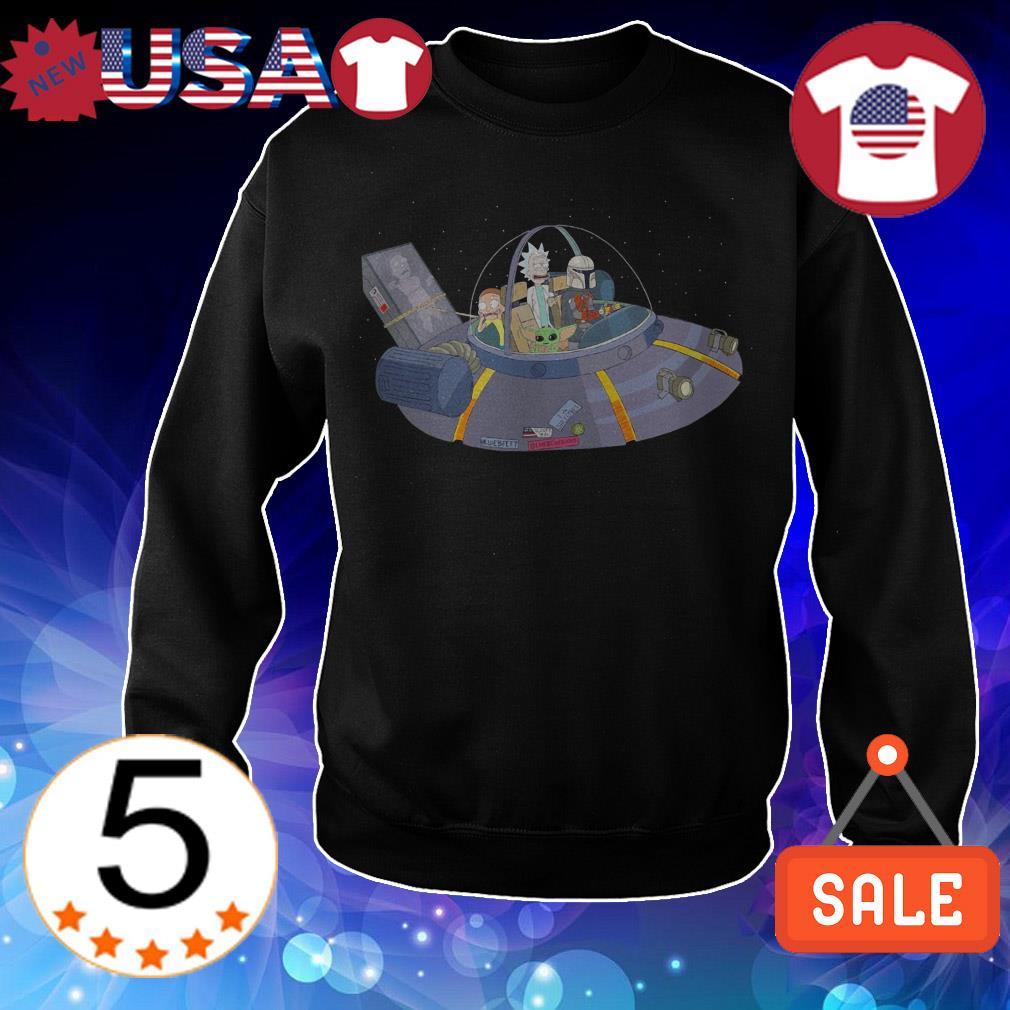SWS Spaceship Baby Yoda Darth Vader Rick and Morty shirt