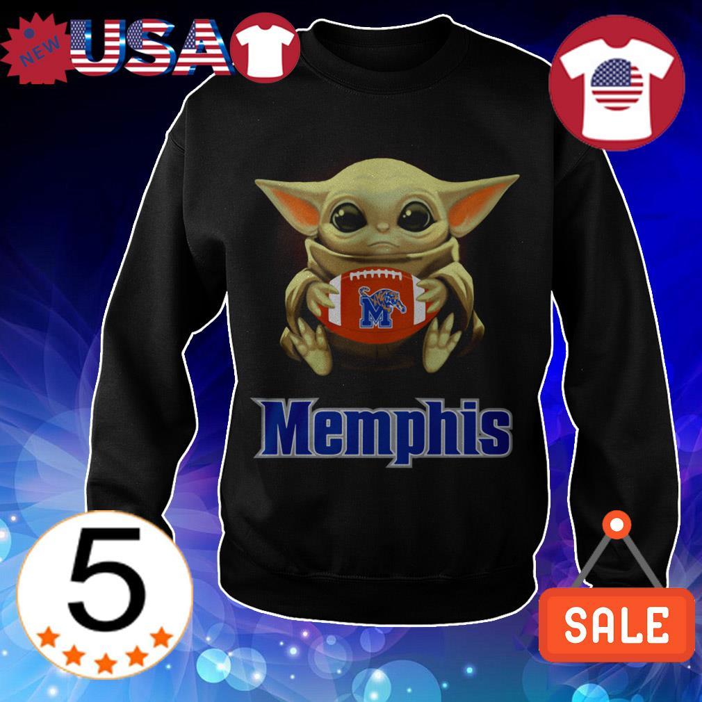 Star Wars Baby Yoda hug Memphis Tigers shirt