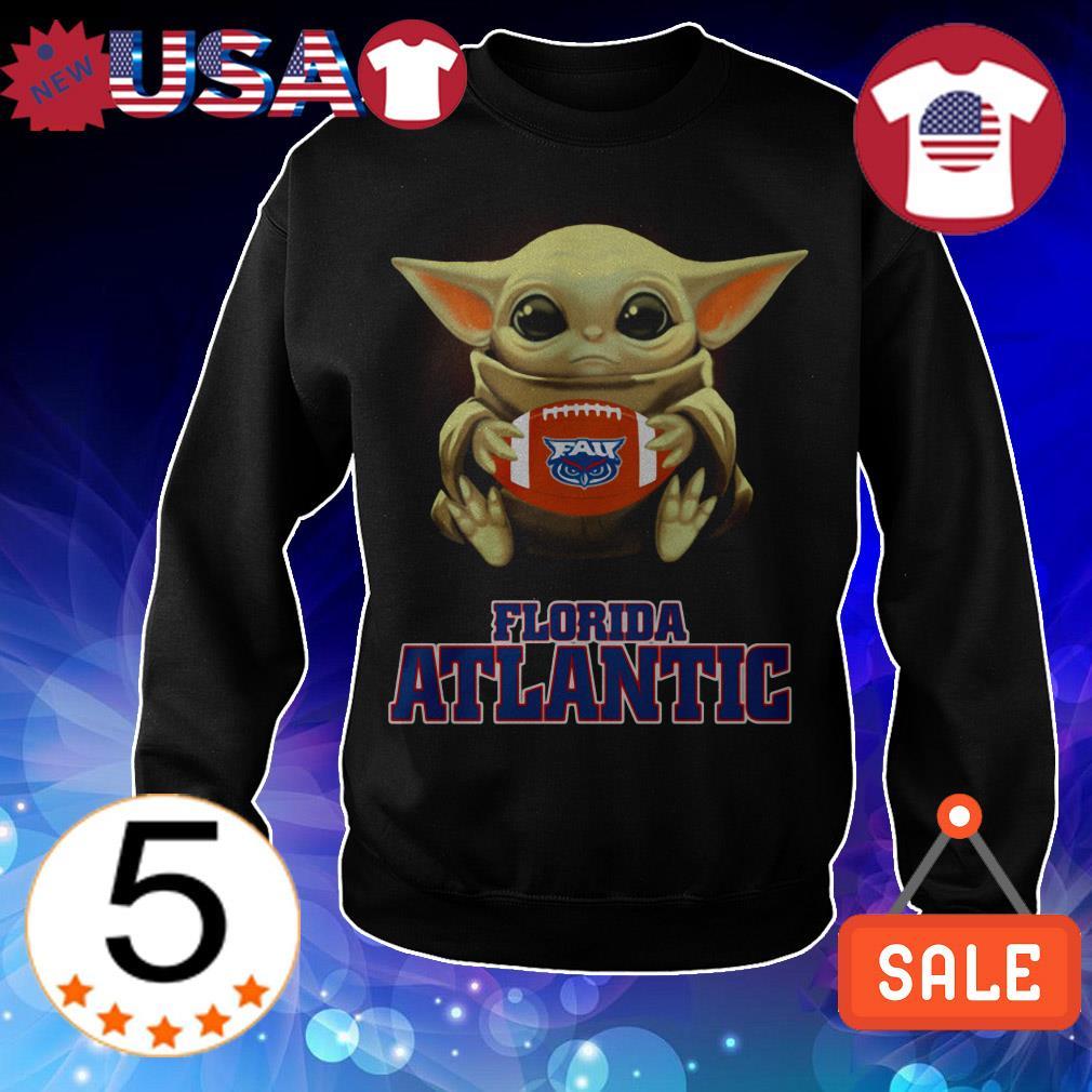 Star Wars Baby Yoda hug Florida Atlantic shirt