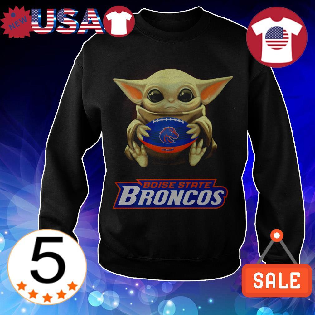 Star Wars Baby Yoda hug Boise State Broncos shirt