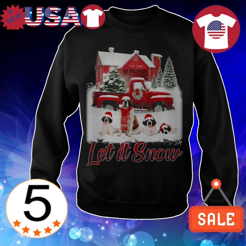 St Bernard Let It Snow Christmas sweatshirt