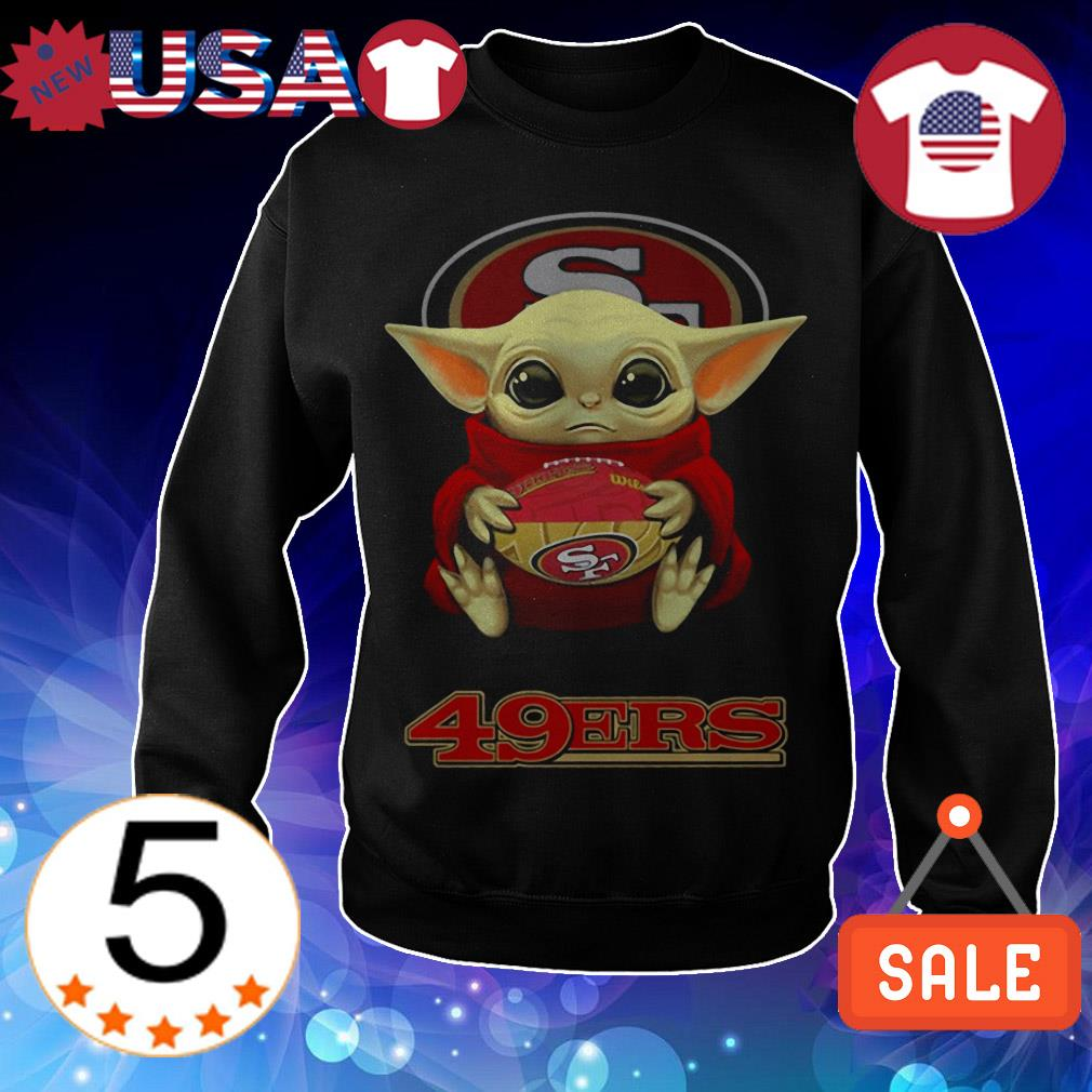 Official Star Wars Baby Yoda hug San Francisco 49ers shirt