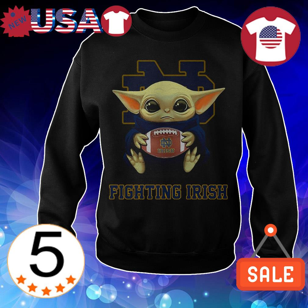 Official Star Wars Baby Yoda hug Fighting Irish shirt