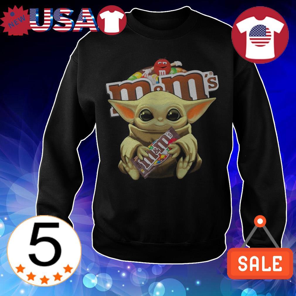 Star Wars Baby Yoda hug M&M's shirt