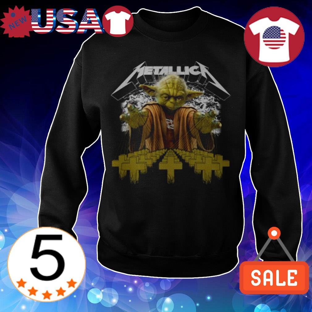 Star Wars Baby Yoda Metallica cross shirt