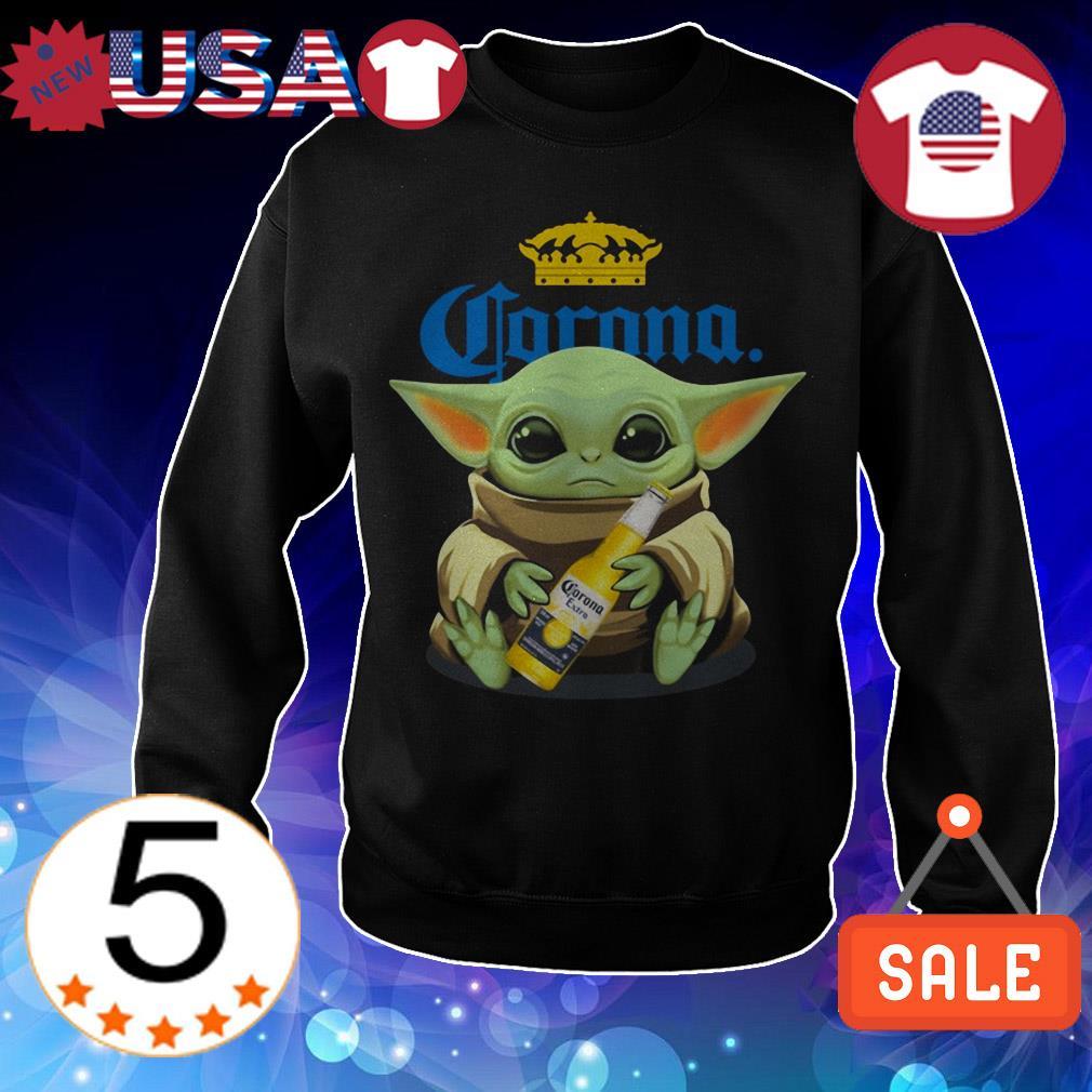 Star Wars Baby Yoda hug Corona Beer shirt