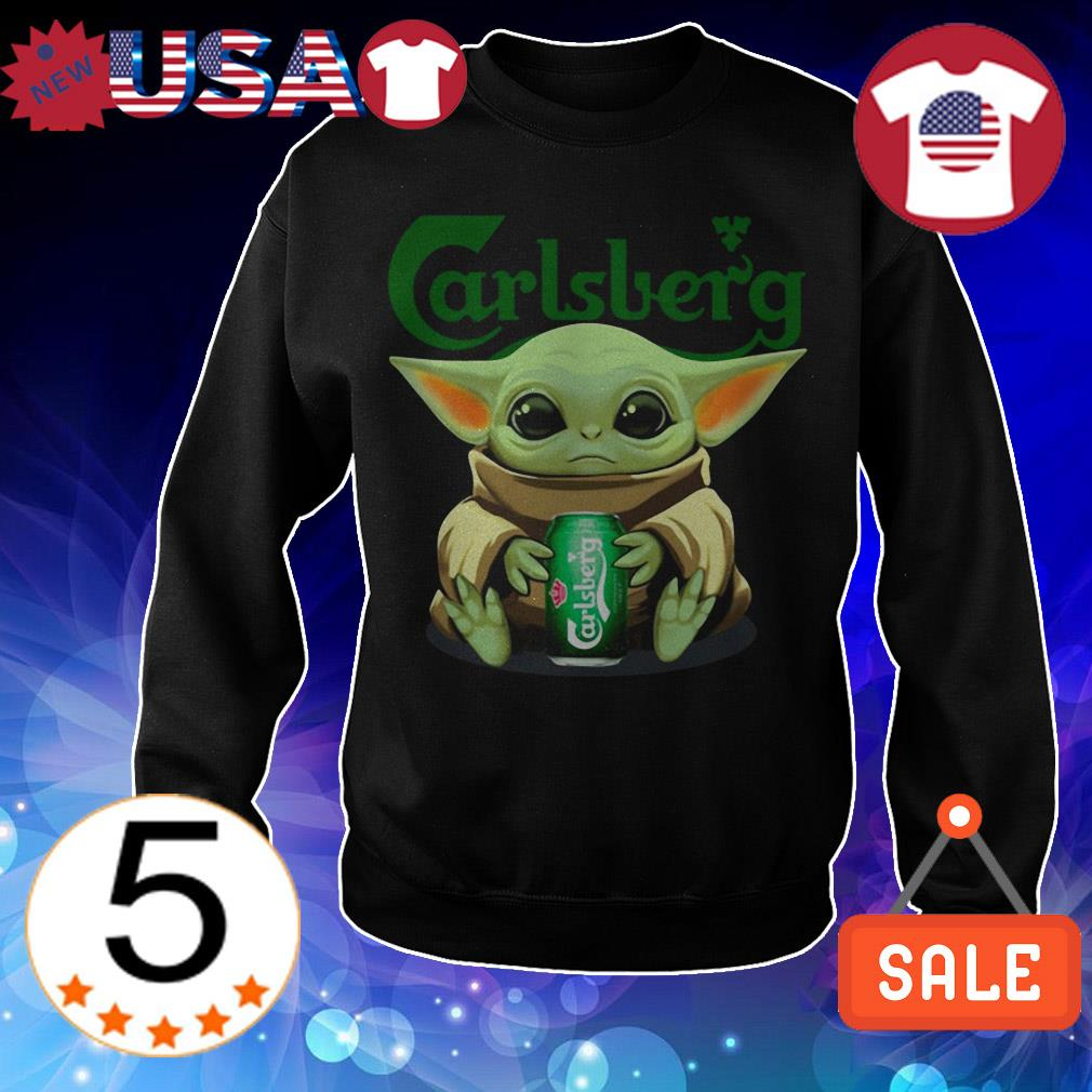 Star Wars Baby Yoda hug Carlsberg Beer shirt