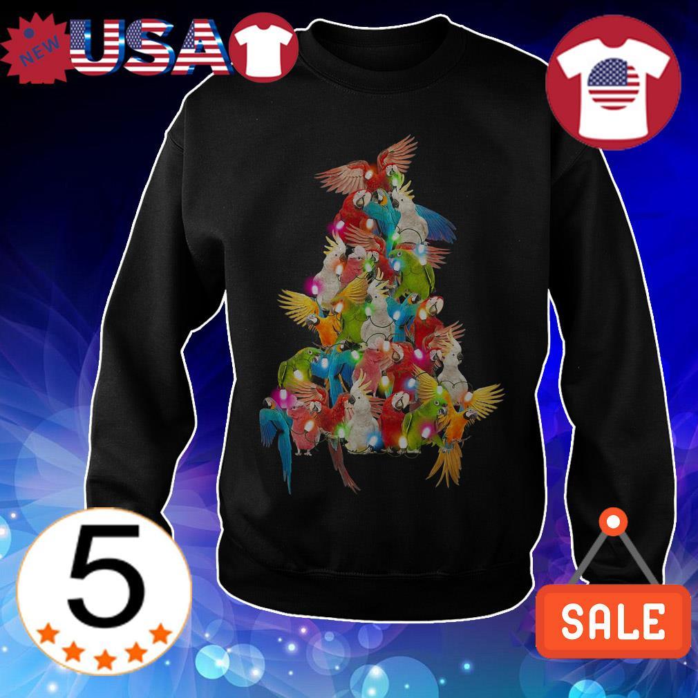 Parrot paws tree Christmas sweatshirt