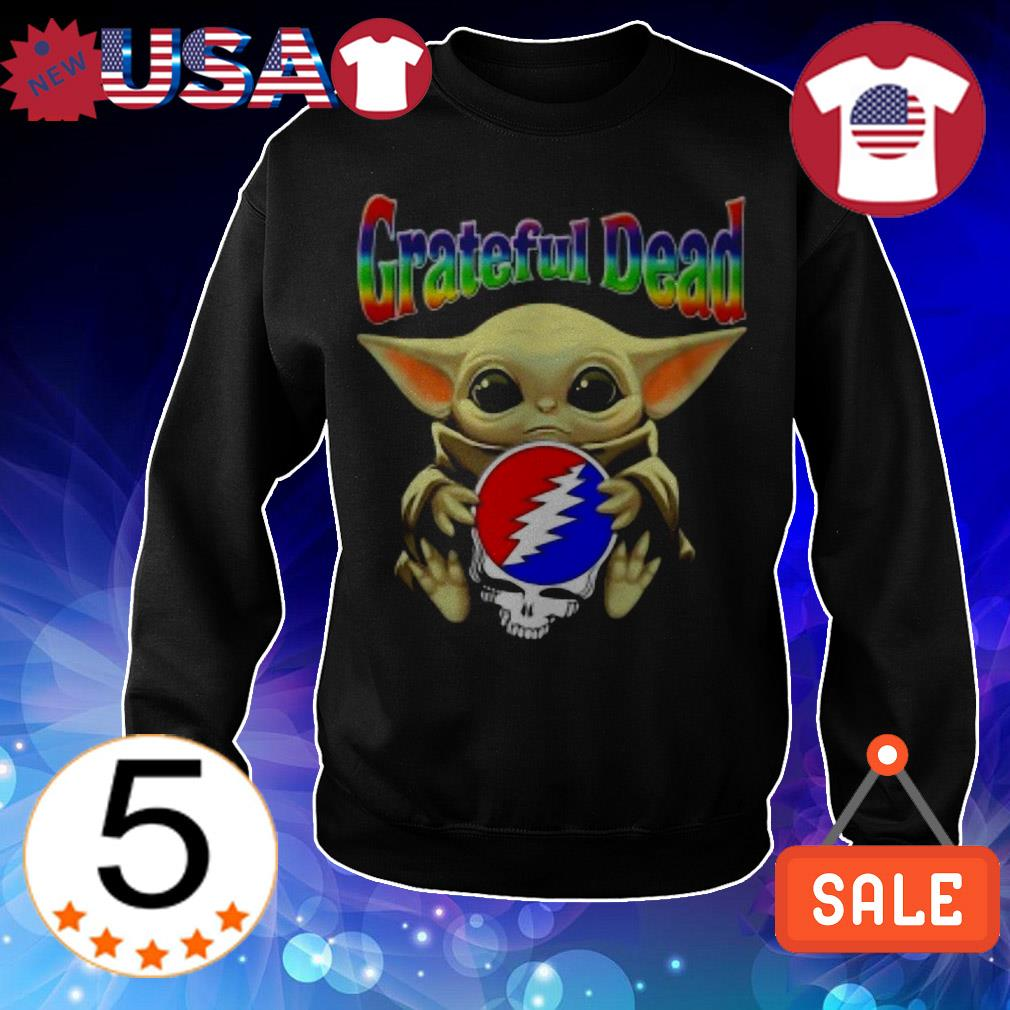 Baby Yoda hug Grateful Dead Steal Your Face shirt