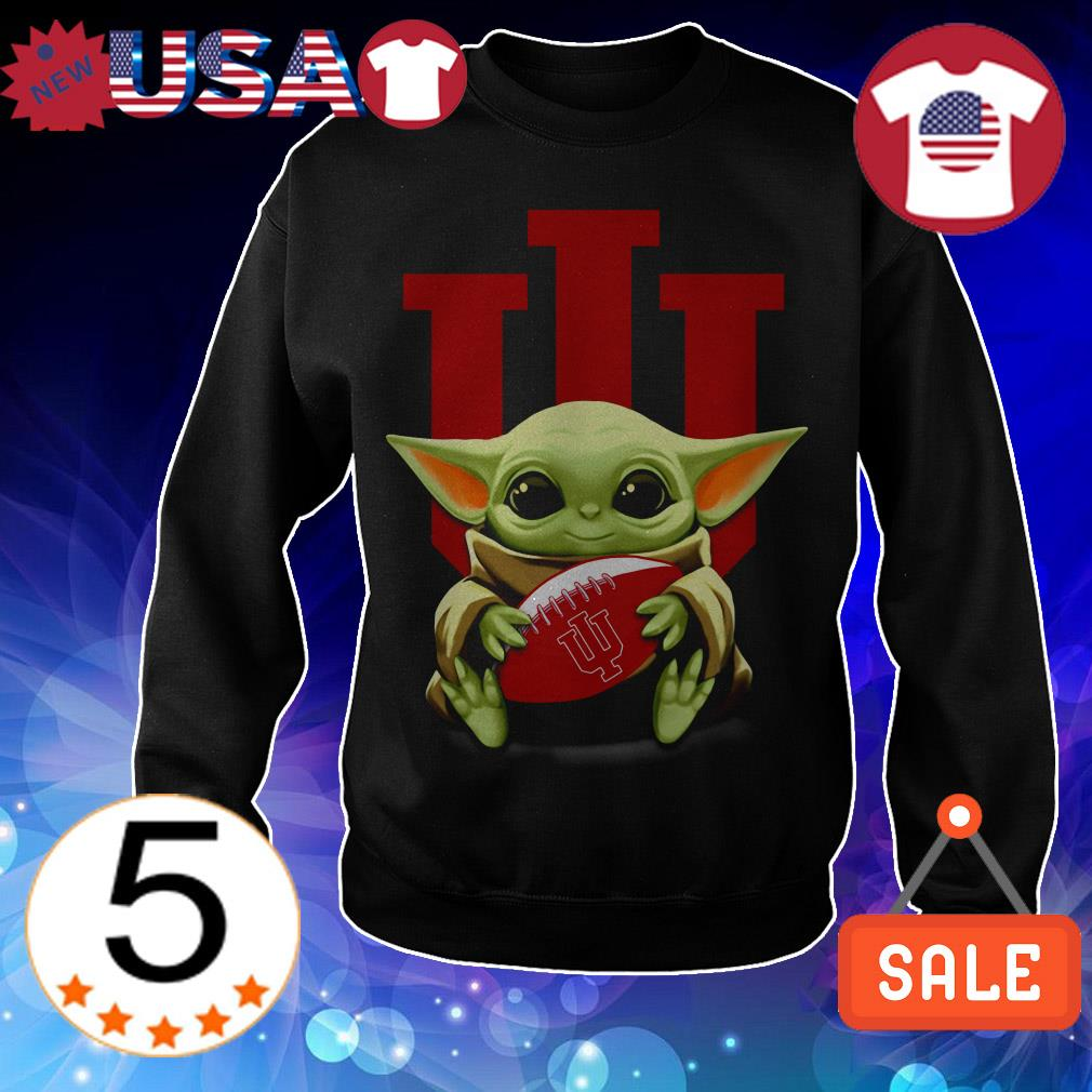 Official Star Wars Baby Yoda hug Indiana University shirt