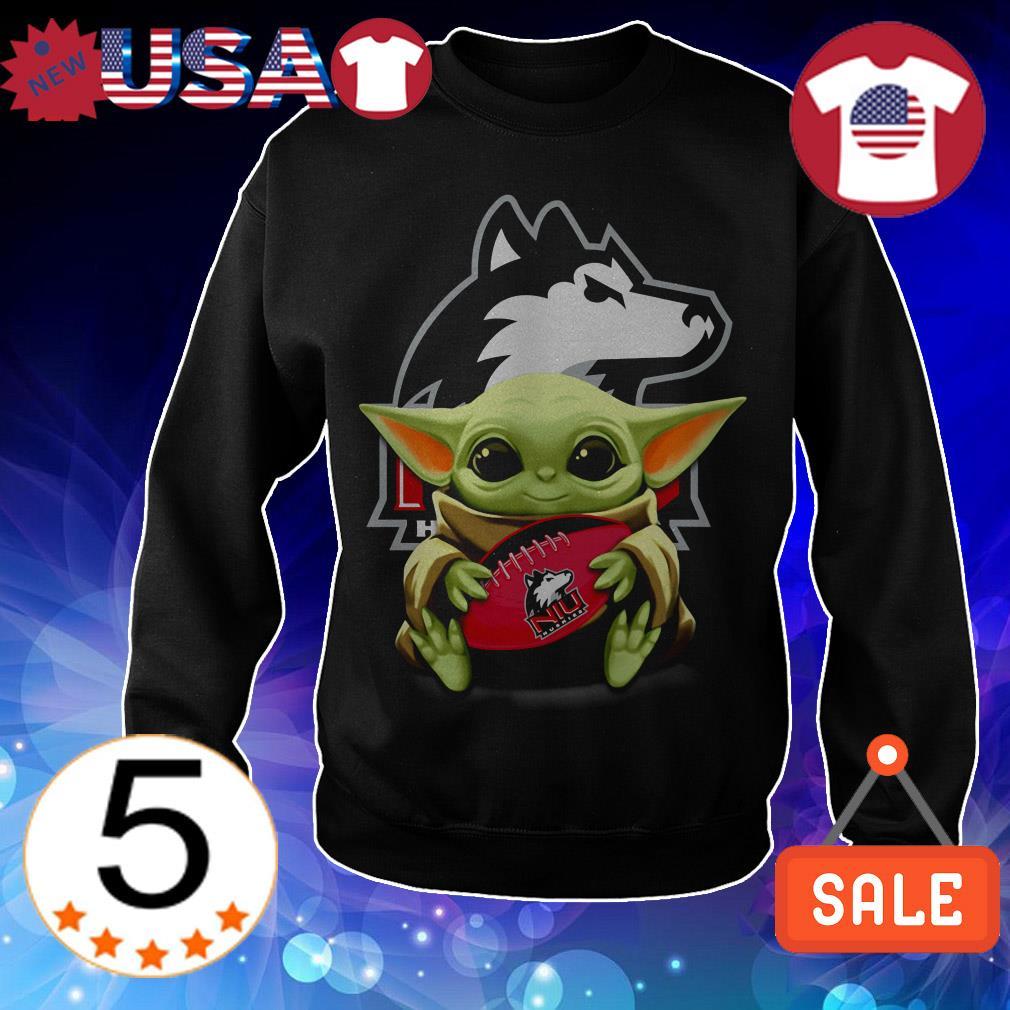 Official Star Wars Baby Yoda hug Northern Illinois Huskies shirt
